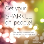 Get your sparkle on. Shine Mentality. Perla Daly. newfillipina.com