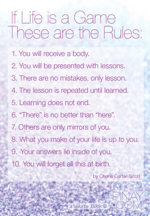 10 rules for the game of life - cherie carter-scott