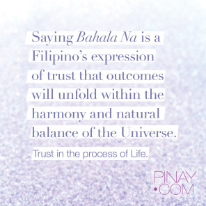Trust in the process of life. Bahala na. #bagongpinay