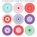 Baybayin Name Mandalas #bagongpinay #baybayin #mandala #philippine