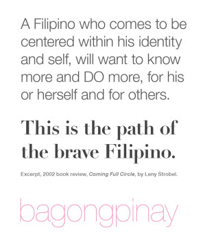 This is the path of the Brave Filipino