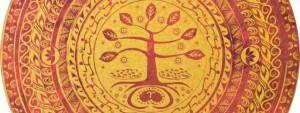 Babaylan Mandala - Red & Gold, by Perla Daly