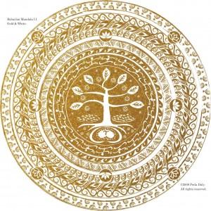 Babaylan Mandala, Gold & White, ©2009 Perla Daly.